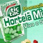 www.tictac.com.br, Promoção Tic Tac Hortelã Mix