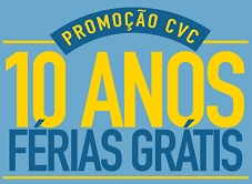 www.promocaocvc10anosdeferias.com.br, Promoção CVC 10 anos de Férias Grátis