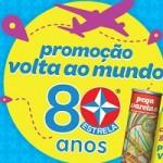 www.estrela.com.br/voltaaomundo, Promoção volta ao mundo Estrela 80 Anos
