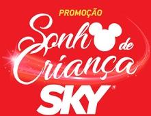 www.skysonhodisney.com.br, Promoção Sky Sonho de Criança