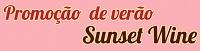 Promoção de verão Sunset Wine