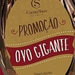 www.promocaocacaushow.com.br, Promoção Ovo Gigante Cacau Show 2018