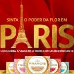 www.promocaofrancis.com.br, Promoção sabonete Francis viagem Paris