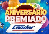 www.condor.com.br/aniversario, Promoção Aniversário Premiado Condor 2018