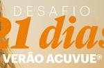 www.acuvue.com.br/desafio21dias, Promoção Acuvue Desafio 21 Dias