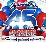 www.andorinhahiper.com.br/aniversario45anos/, Promoção Andorinha Hiper Center 2019