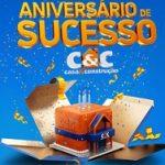 www.cec.com.br/promoaniversariodesucesso, Promoção aniversário C&C 2019