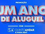 umanodealuguel.com.br, Promoção Um ano de aluguel com Quinto Andar