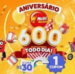 sorteio.redemultimarket.com.br, Promoção aniversário Multi Market 2021